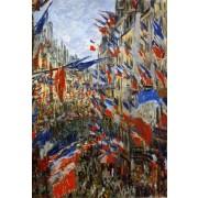 Monet - The Rue Saint-Denis 30th of June 1878