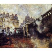 Monet - The Pont de l' Europe Saint-Lazare Station