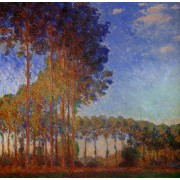 Monet - Poplars on the Banks of the River Epte Seen from the Marsh