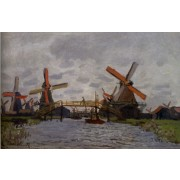 Monet - Windmills near Zaandam