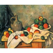 Cezanne - Curtain, Jug and Fruit
