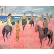 Cezanne - Horsemen on the Beach