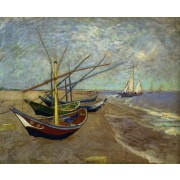 Van Gogh - Fishing boats on the Beach at Les Saintes-Maries-de-la-Mer