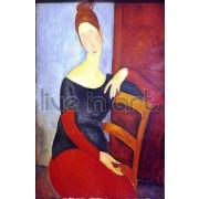 Modigliani - Portrait Of Jeanne Hebuterne