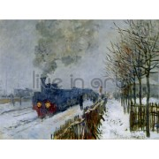 Monet - Train in the Snow the Locomotive