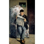 Cezanne - Louis-Auguste Cezanne, Father of the Artist, Reading 'l'Evenement'