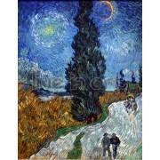 Van Gogh - Cypress against a Starry Sky