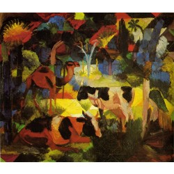 Mache - Landscape With Cows And Camel