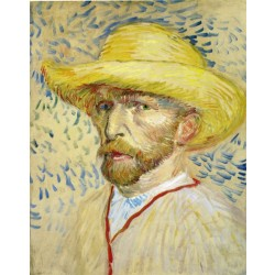 Van Gogh - Self-Portrait with Straw Hat