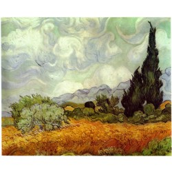Van Gogh - A Wheatfield, with Cypresses