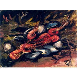 Van Gogh - Still Life with Mussels and Shrimp